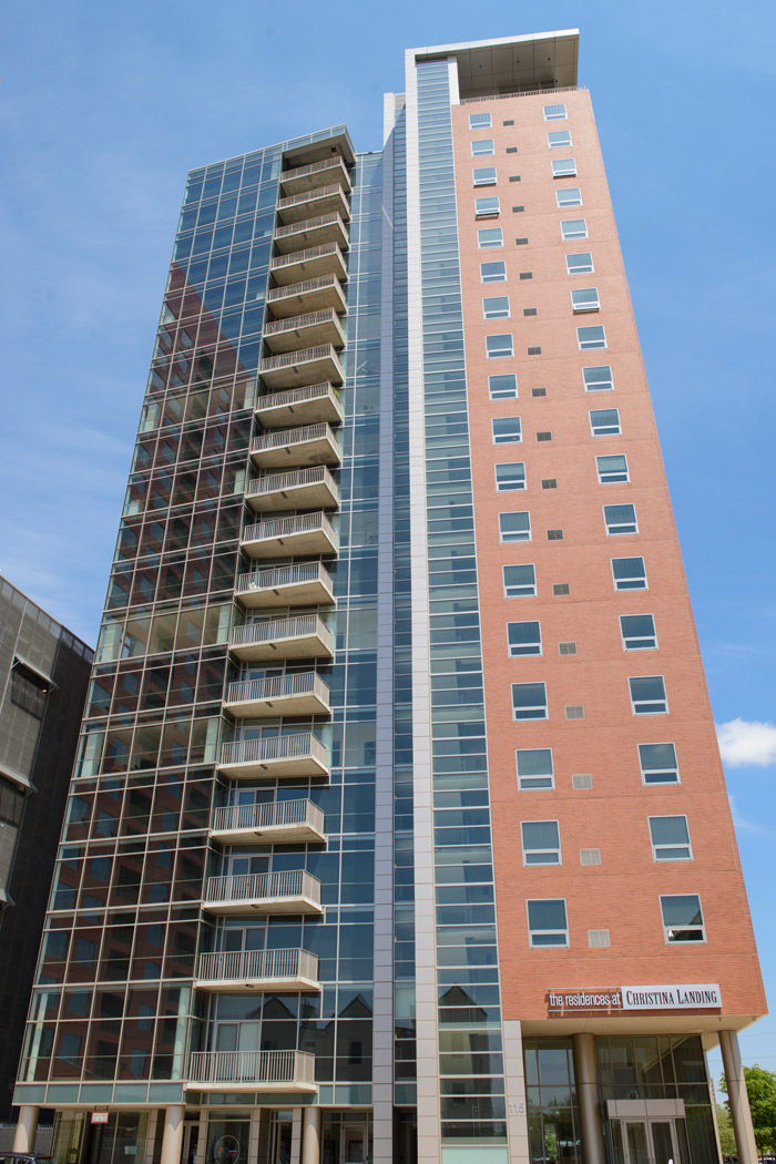 skyrise view of apartment in wilmington de