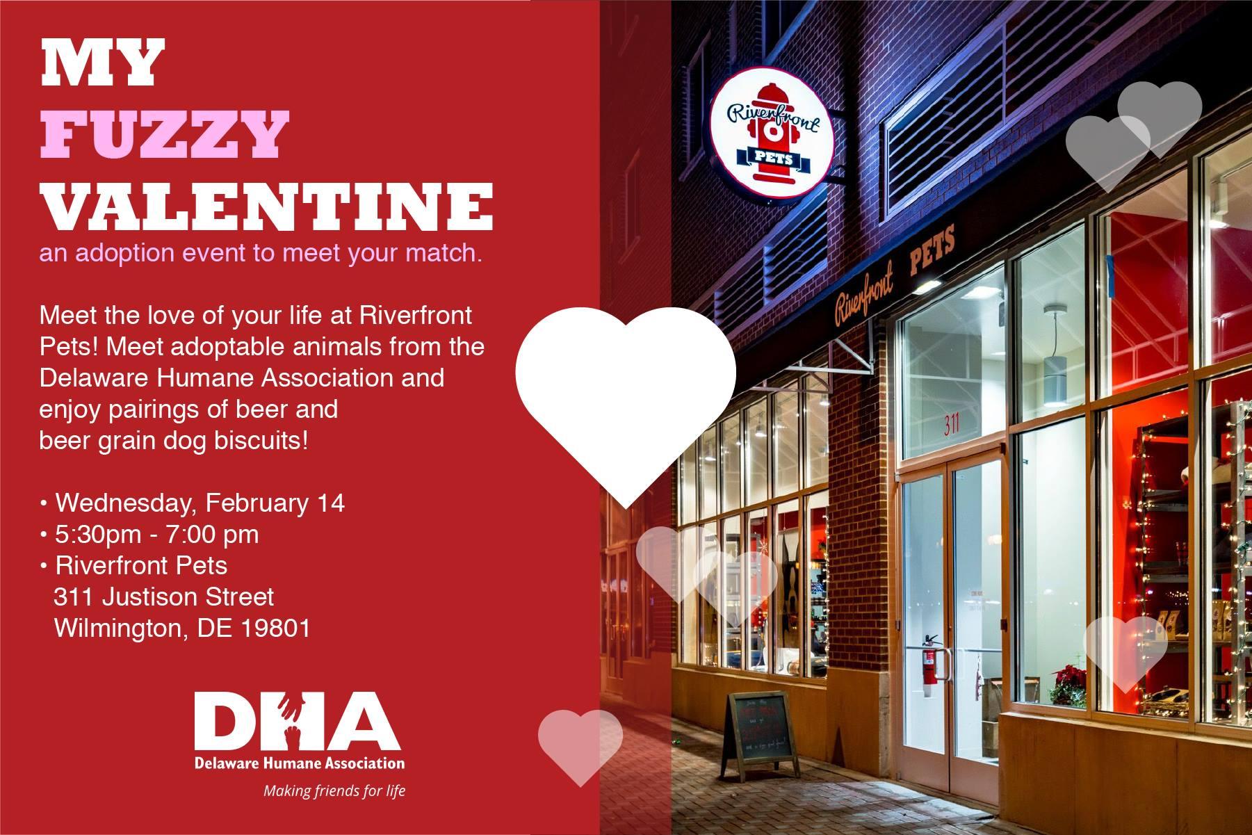 Riverfront Pets' My Fuzzy Valentine Adoption Event
