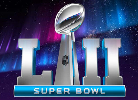 super bowl LII on the big screen at theatre N